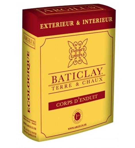 BATICLAY CORPS D'ENDUIT (0.5 à 1 M²  épaisseur 2CM) 25kg