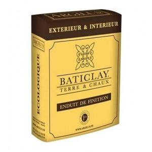 Baticlay Enduit Terre Chaux Finition 25KG (1,5 m² sur 1 cm)